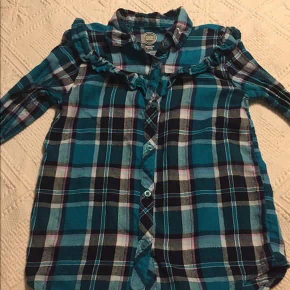 f2a0578fc wonder nation Shirts & Tops | Teal Plaid Shirt | Poshmark